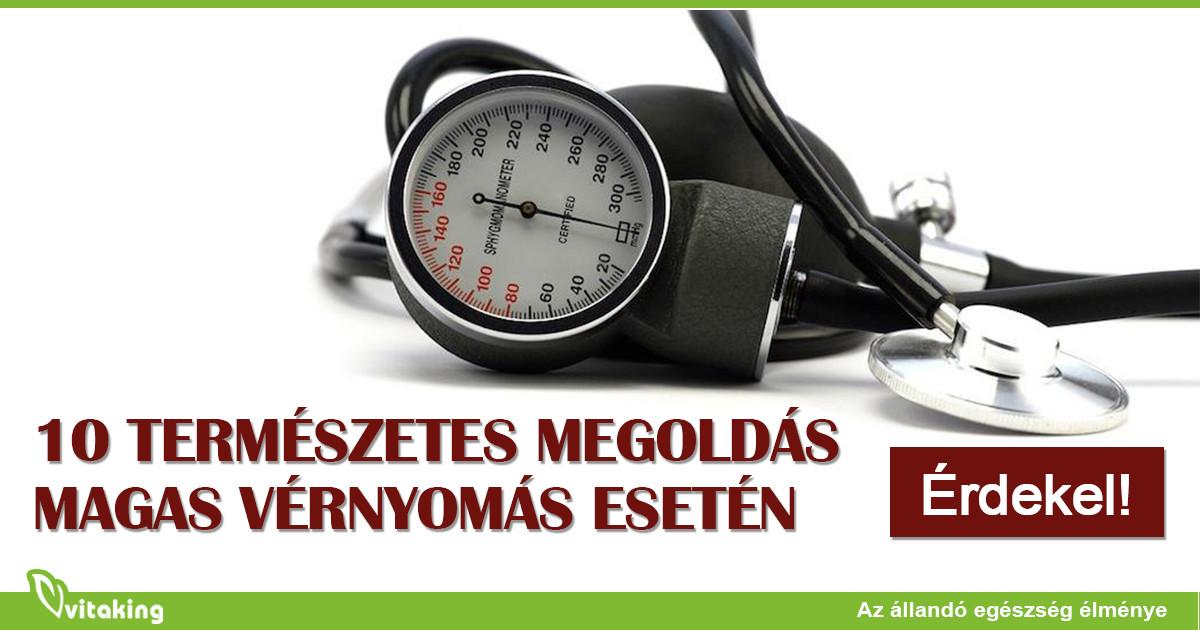 magas vérnyomás esetén a vérnyomás csökken