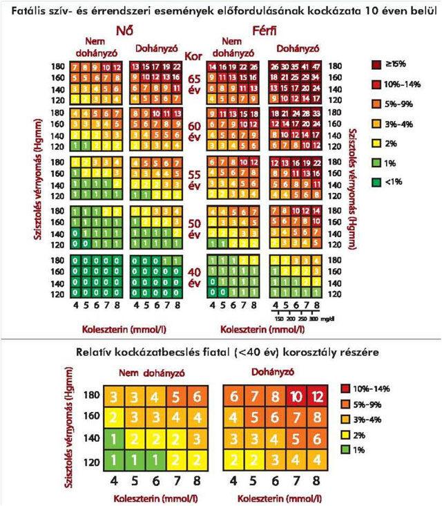 magas vérnyomás és magas koleszterinszint magas vérnyomás 2 fokú kockázat 3