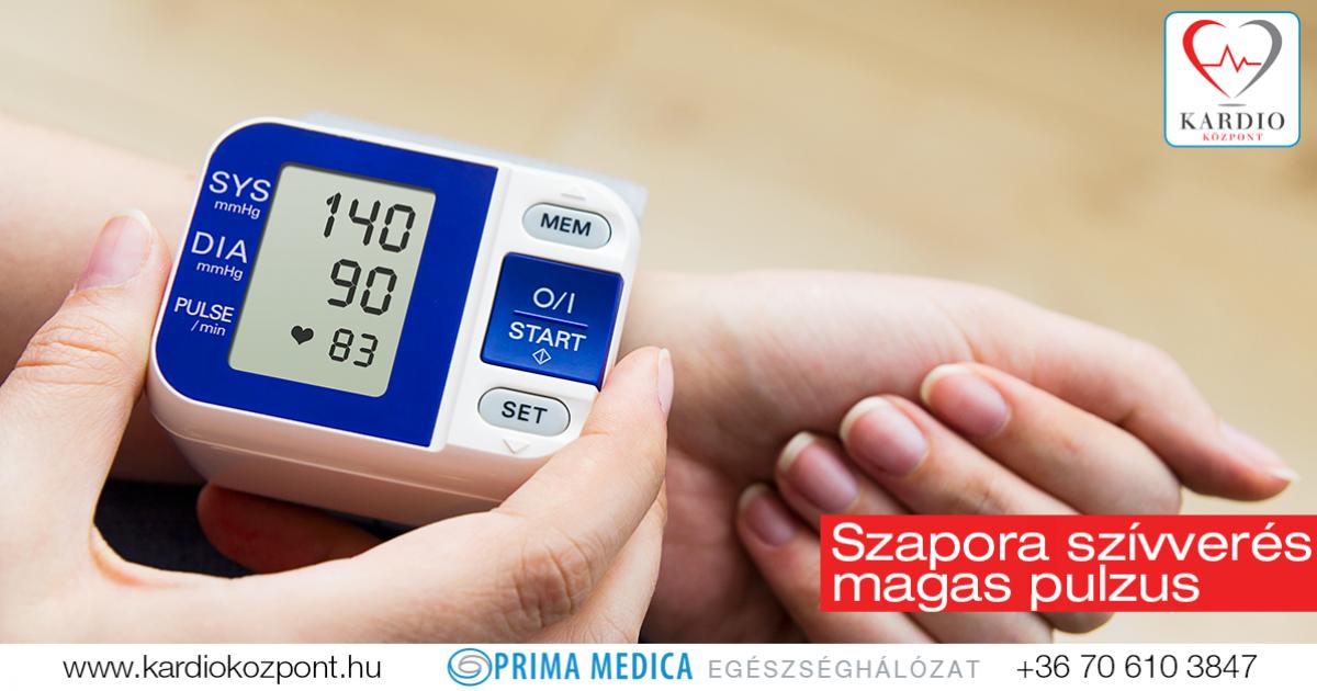 pulzusszám magas vérnyomás esetén